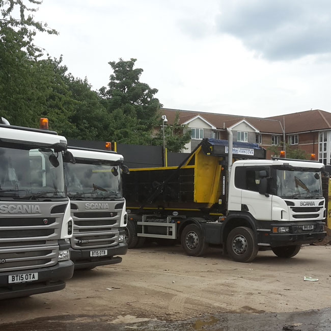 gallery of bogan fleet of skip hire trucks in birmingham. Black Bedroom Furniture Sets. Home Design Ideas